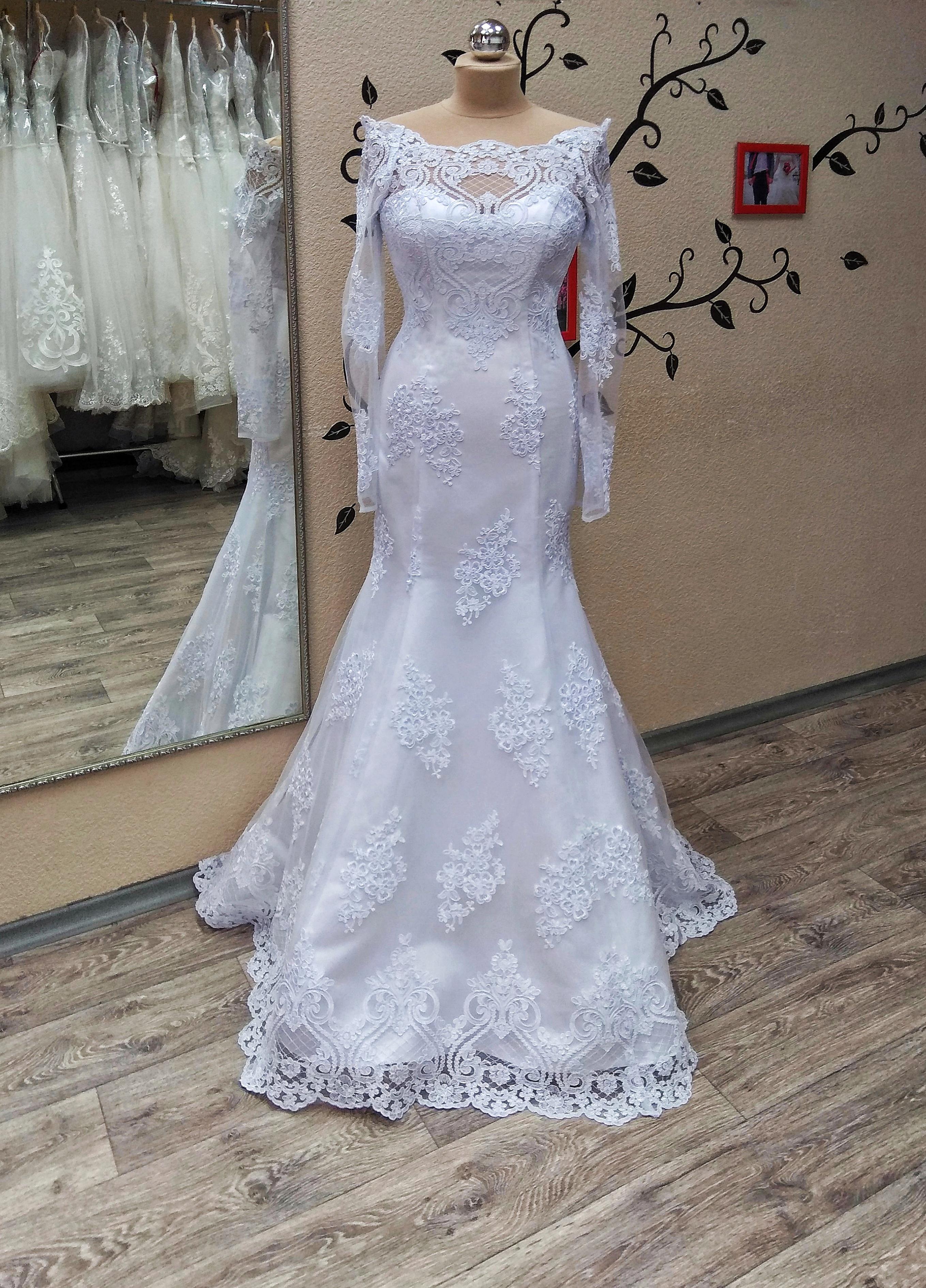ff21c53cb4b свадебное платье русалка с открытой спиной купить